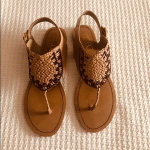 BCBG Tan Sandals 9B